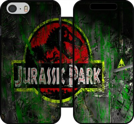 Book Cover Hoesje Jurassic park Lost World TREX Dinosaure voor Iphone 6 4.7