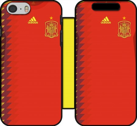 Book Cover Hoesje Spain World Cup Russia 2018  voor Iphone 6 4.7