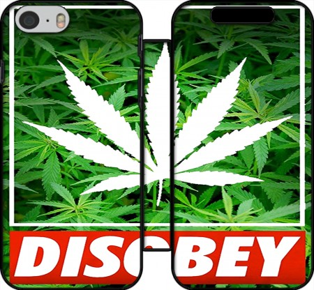 Book Cover Hoesje Weed Cannabis Disobey voor Iphone 6 4.7