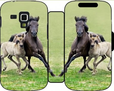Horses Dülmener-paard, veulen met merrie Hoesje voor Samsung Galaxy ...: www.mobilinnov.nl/grafici-horses-wild-duelmener-ponies-mare-and...